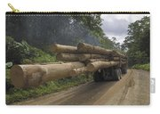 Truck With Timber From A Logging Area Carry-all Pouch