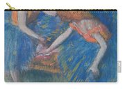 Two Dancers Carry-all Pouch by Edgar Degas