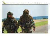 Two Snipers Of The Belgian Army Dressed Carry-all Pouch by Luc De Jaeger