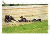 Two Soldiers Of The Belgian Army Carry-all Pouch by Luc De Jaeger