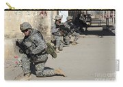 U.s. Army Soldiers Providing Security Carry-all Pouch by Stocktrek Images