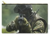 U.s. Marine During Combat Operations Carry-all Pouch