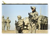 U.s. Soldiers Conduct A Combat Patrol Carry-all Pouch