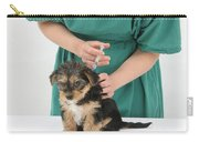 Vet Giving Pup Its Primary Vaccination Carry-all Pouch