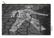Walking Man In Black And White Carry-all Pouch