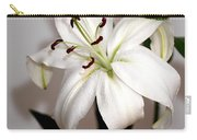 White Lily In Macro Carry-all Pouch