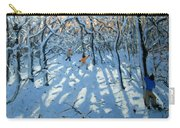 Winter Woodland Near Newhaven Derbyshire Carry-all Pouch