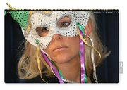 Woman With Mask Carry-all Pouch by Henrik Lehnerer
