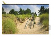 Wooden Stairs Over Dunes At Beach Carry-all Pouch by Elena Elisseeva