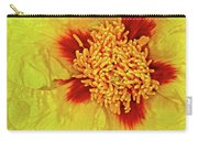Yellow Peony Carry-all Pouch