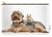 Yorkshire Terrier Dog And Baby Rabbit Carry-all Pouch