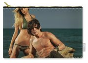 Young Beautiful Couple At The Beach Carry-all Pouch