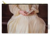 Young Lady In Yellow Gown With Letters Carry-all Pouch