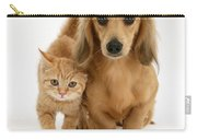 Kitten And Puppy Carry-all Pouch by Jane Burton