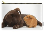 Puppy And Guinea Pig Carry-all Pouch by Mark Taylor