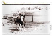 1900  Clydesdale Horse Carry-all Pouch