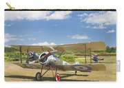 1916 Sopwith Pup Airplane On Airfield Poster Print Carry-all Pouch