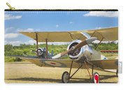 1916 Sopwith Pup Biplane On Airfield Canvas Photo Poster Print Carry-all Pouch