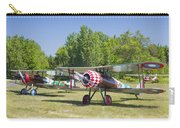 1917 Nieuport 28c.1 World War One Antique Fighter Biplane Canvas Poster Print Carry-all Pouch
