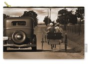 1934 Chevy And Today's Horse And Buggy By Randall Branham Carry-all Pouch