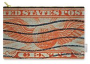 1934 U. S. Air Mail Dull Orange Stamp Carry-all Pouch