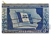 1946 Iowa Statehood Stamp Carry-all Pouch