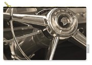 1953 Pontiac Steering Wheel - Sepia Carry-all Pouch