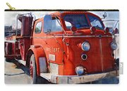 1954 American Lafrance Classic Fire Engine Truck Carry-all Pouch by Kathy Clark