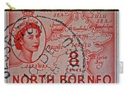 1954 North Borneo Stamp Carry-all Pouch
