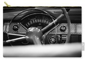 1955 Chevy Bel Air Dashboard In Black And White Carry-all Pouch by Sebastian Musial