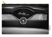 1955 Chevy Bel Air Glow Compartment In Black And White Carry-all Pouch by Sebastian Musial