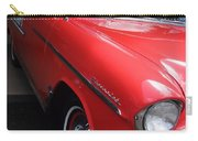 1956 Red And White Chevy Carry-all Pouch