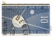 1957 - 1958 East German Sputnik Stamp Carry-all Pouch