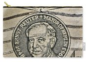 1959 Champion Of Liberty Stamp Carry-all Pouch