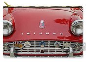 1960 Triumph Tr 3 Grille Emblems Carry-all Pouch by Jill Reger
