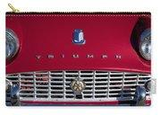 1961 Triumph Tr3a Roadster Grille Emblem Carry-all Pouch