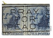 1962 Pray For Peace Stamp Collage Carry-all Pouch