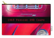 1963 Red Porsche S90 Coupe Poster Carry-all Pouch