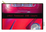 1963 Red Porsche S90 Coupe Poster S Carry-all Pouch