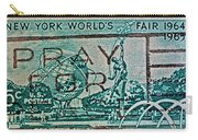 1964 New York World's Fair Stamp Carry-all Pouch