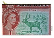 1964 North Borneo Sabah Stamp Carry-all Pouch