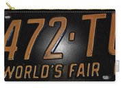 1965 New York World's Fair License Plate Carry-all Pouch