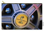 1968 Ford Shelby Gt500 Kr Convertible Wheel Emblem Carry-all Pouch