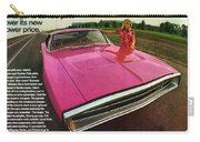 1970 Dodge Charger Tickled Pink Carry-all Pouch