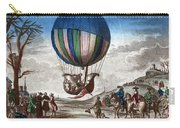 1st Manned Hydrogen Balloon Flight, 1783 Carry-all Pouch