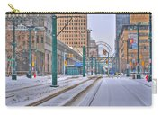 1st Real Snowfall Metro Rail 2012 Carry-all Pouch