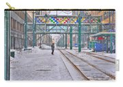 1st Real Snowfall Metro Rail Downtown Carry-all Pouch