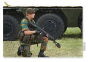 A Soldier Of An Infantry Unit Carry-all Pouch