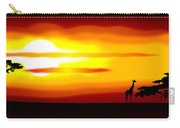 Africa Sunset Carry-all Pouch by Michal Boubin