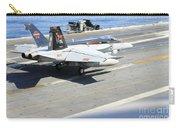 An Fa-18e Super Hornet Lands Aboard Carry-all Pouch
